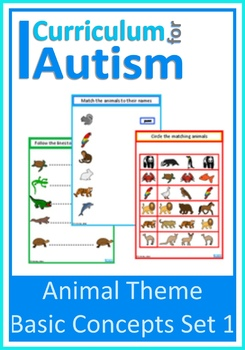 Animals Fine Motor Skills, Matching, Write & Wipe, Autism, Special Education