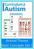 Animals Matching Fine Motor Skills Autism Special Education
