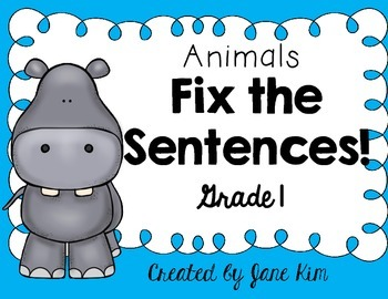Fix the Sentences-Animals