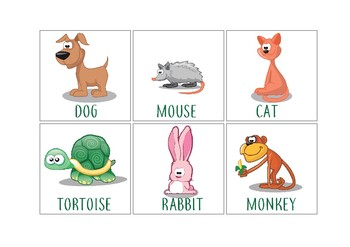 This is an image of Genius Printable Animal Flash Cards
