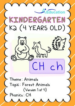 Animals - Forest Animals (I): Digraph CH - K2 (4 years old)