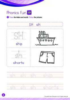 Animals - Forest Animals (III): Digraph SH - K2 (4 years old)
