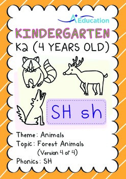 Animals - Forest Animals (IV): Digraph SH - K2 (4 years old)