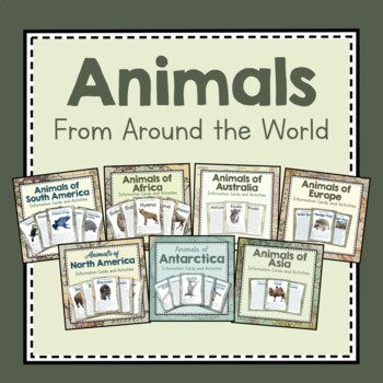 Animals From Around the World- Growing Bundle