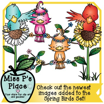 Animals Clip Art Mini Set: Spring Birds [Miss P's Place]