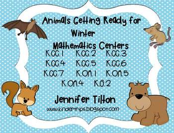 Animals Getting Ready for Winter Mathematics Centers-Common Core