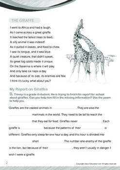 Animals - Giraffes: The Giraffe - Grade 4