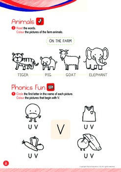 Animals - Goat, Pig (I): Letter V - K1 (3 years old)
