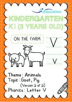Animals - Goat, Pig (II): Letter V - K1 (3 years old)