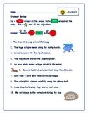 Animals Grammar Fun Sheet