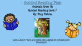 Animals Grow Up (Level F) Guided Reading Lesson Plan