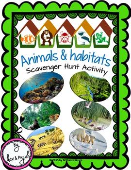 Animals & Habitats Scavenger Hunt