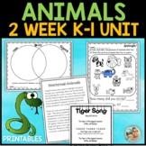 Animal Habitats kindergarten & 1st Grade Unit