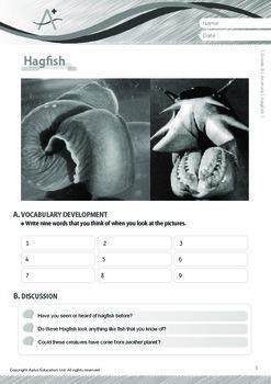 Animals - Hagfish - Grade 9