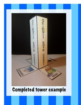Animals Have Needs Science Interactive Tower Foldable