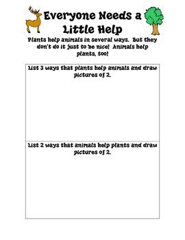 Animals Help Plants and Plants Help Animals