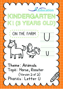 Animals - Horse, Rooster (II): Letter U - K1 (3 years old)
