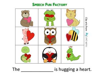 Animals Hugging a Heart - Valentine's Day