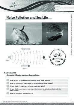 Animals - Human Noise Pollution is a Danger to Sea Life - Grade 12