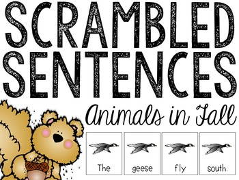Animals In The Fall Scrambled Sentences