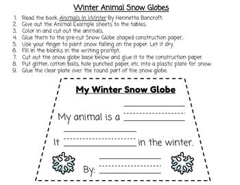 Animals In Winter Science Project: Lesson Plan, Presentati