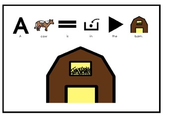 Animals In the Barn Manipulative Book