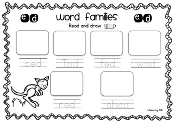 Animals In the Zoo! Word Families Card Match Literacy Centre Activity!