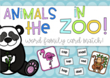 Animals In the Zoo! Word Families Card Match Literacy Cent