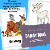 Animals Indonesian Posters, Playing Cards, Keyring Cards,
