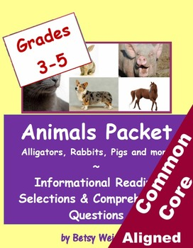 Animals Informational Reading Selections and Questions for Grades 3-5