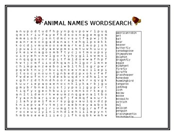 Animals (Insects, Birds, and Mammals) Unit Worksheets