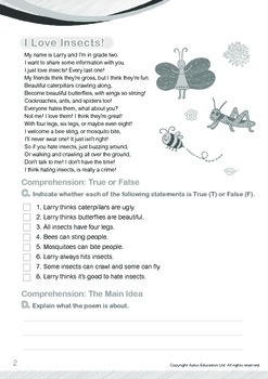 Animals - Insects: I Love Insects - Grade 2