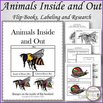 Animals Inside and Out Flip Books, Labeling and Research Worksheets