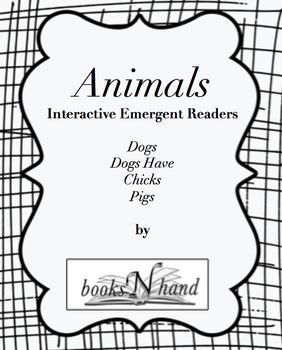 Animals Interactive Emergent Books-Dogs Chicks & Pigs Emer