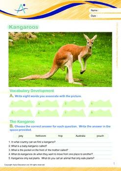 Animals - Kangaroos: Karen Kangaroo - Grade 2