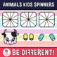 Animals Kids Spinners Clipart