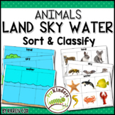 Animals Land Water Air Sort & Classify