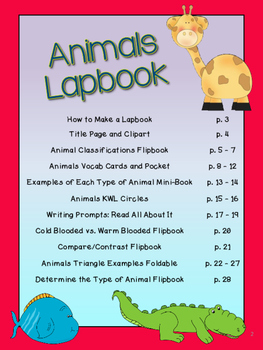 Animals Lapbook