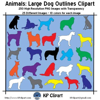 Animals Large Dog Outlines Clipart