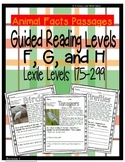 (Animals) Leveled Passages Guided Reading Levels F,G,H (Le