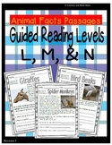 (Animals) Leveled Passages Guided Reading Levels L,M, N (Lexiles 450-560)