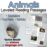 Animal Passages and Graphic Organizers | Adaptations, Food