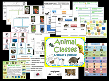 Animals Literacy and Science Bundle