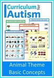 Animals Match Count Sequence BUNDLE Autism Special Education