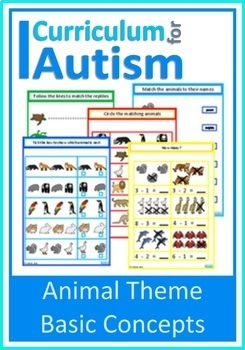 Animals Match, Count, Sequence, BUNDLE, Autism, Special Ed