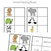 Animals Matching Board - Preschool Kindergarten