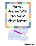 Animals Matching- In Hebrew