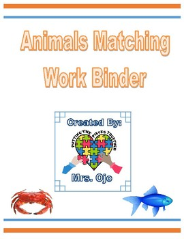 Animals Matching Work Binder
