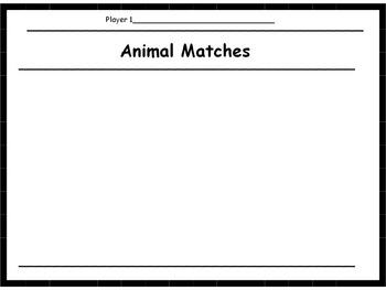 Animals Memory Game (mammals, reptiles, birds, fish)