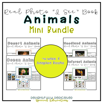 """Animals Mini Bundle Real Photo """"I See"""" Books for Special Education Classrooms"""